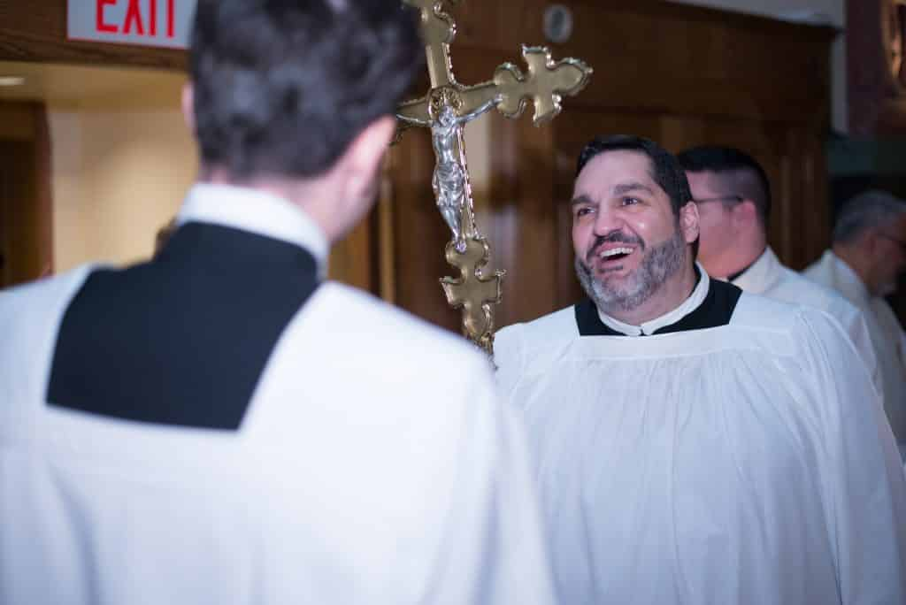 Paulist seminarian Ryan Casey prior to our Ordination Mass on May, 20, 2017, at the Church of St. Paul the Apostle in New York City.