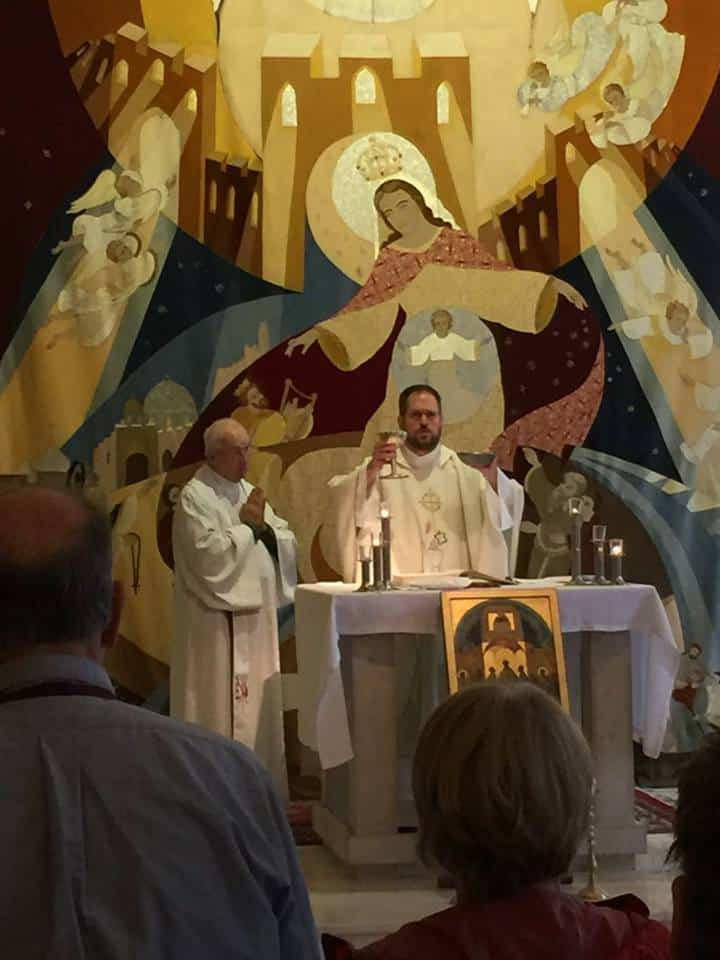 Paulist Fr. Rich Andre celebrating Mass in the Holy Land