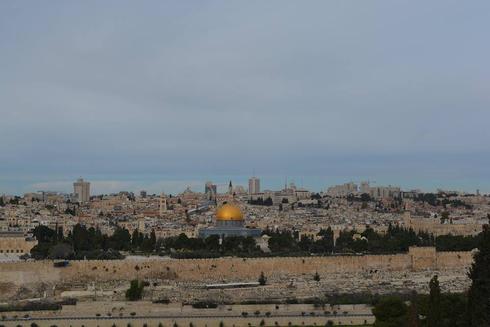 View from the Mount of Olives in the Holy Land