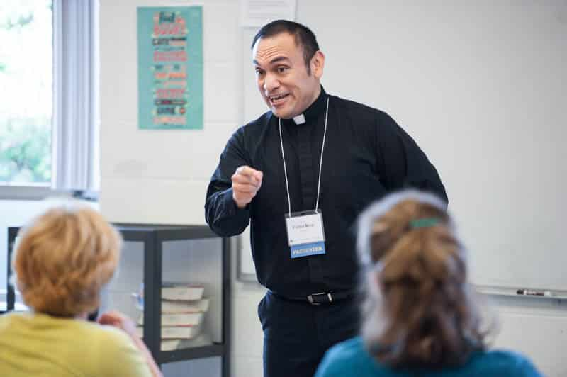 Fr. René speaking at a workshop in the Diocese of Grand Rapids, MI.