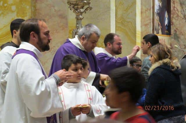 Fr Rich Concelebrating Mass