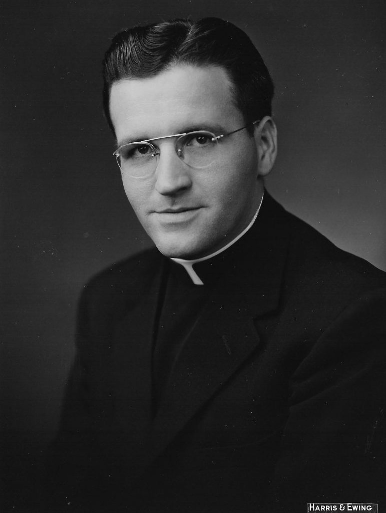 Paulist Fr. Joseph Mahon around 1956. Photo by Harris & Ewing, Washington, D.C.