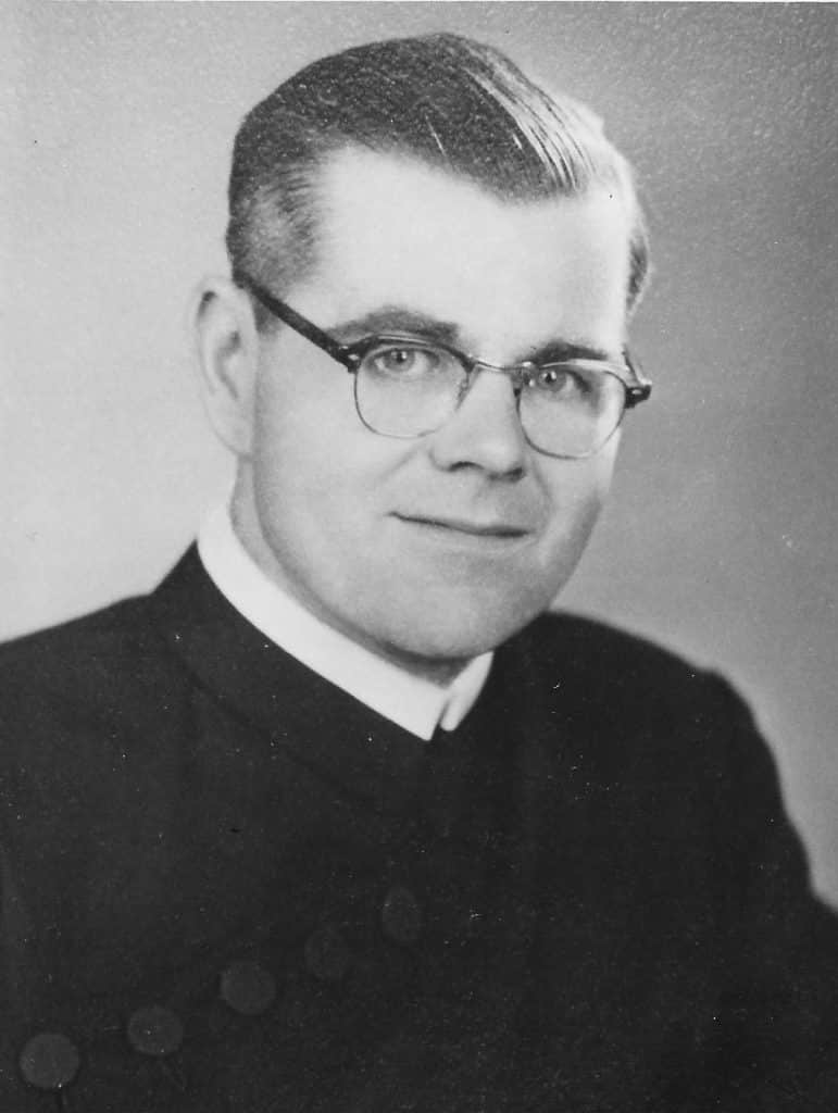 Paulist Fr. David O'Brien as a young priest
