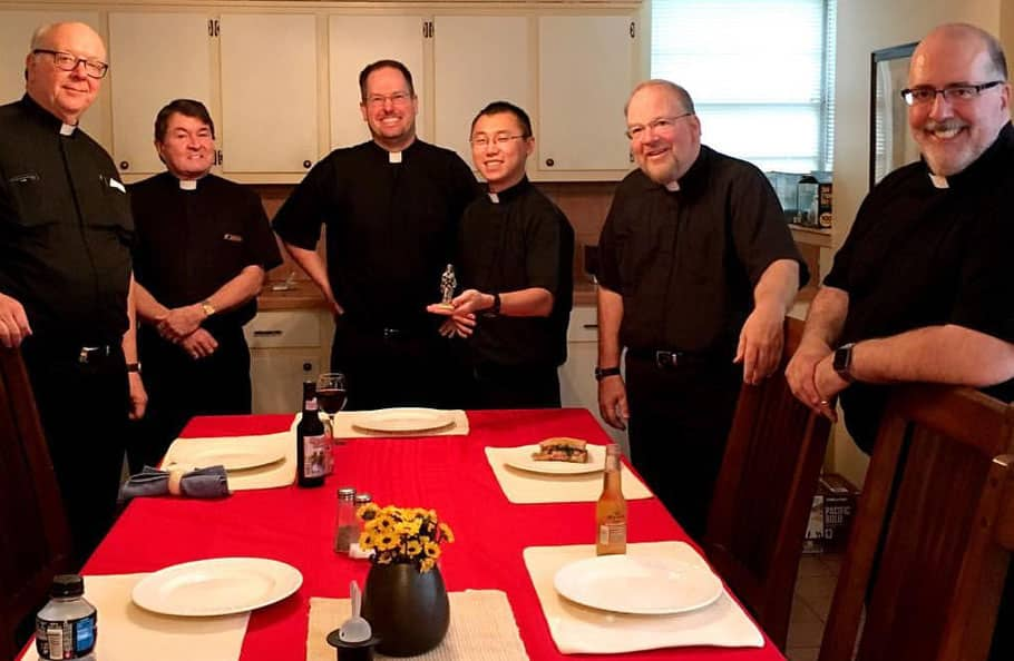 Paulist Fathers at dinner