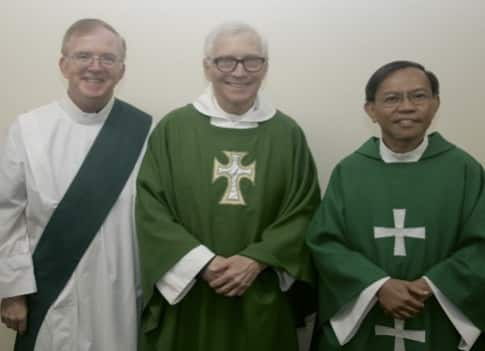 Deacon Gary Harmeyer, Episcopal priest Father Alan Mead, Catholic priest Father Rene Castillo