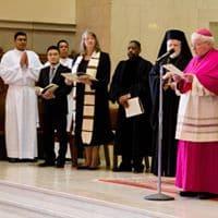 Co-Presiders at prayer service
