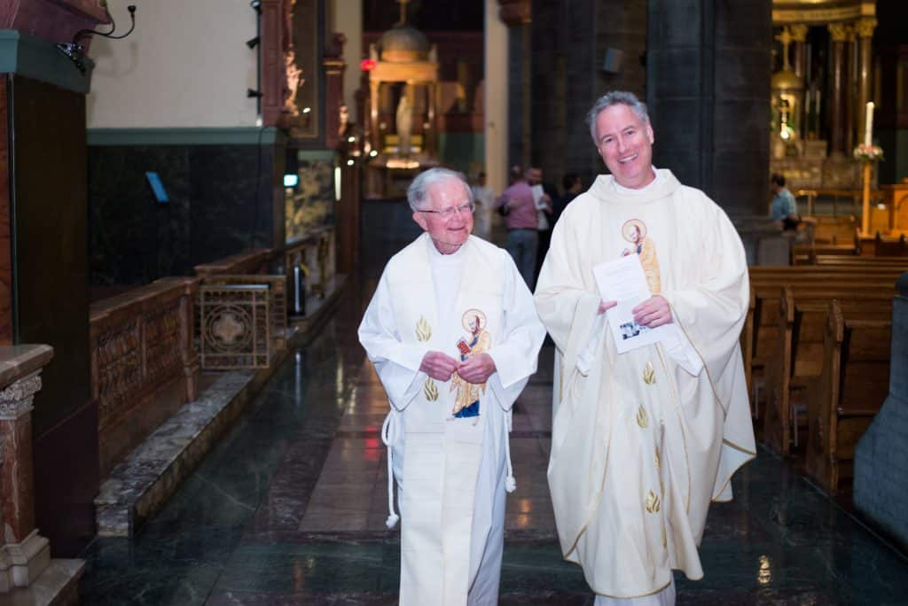 Paulist Fr. Vinny McKiernan and Paulist Fr. Rick Walsh.