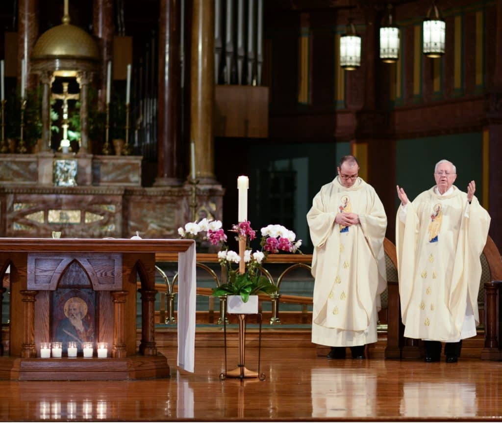 Paulist Fr. Eric Andrews and Paulist Fr. John Foley