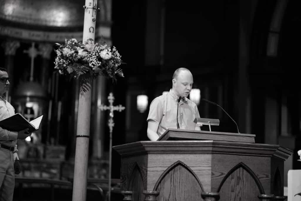 Paulist seminarian Mike Hennessy