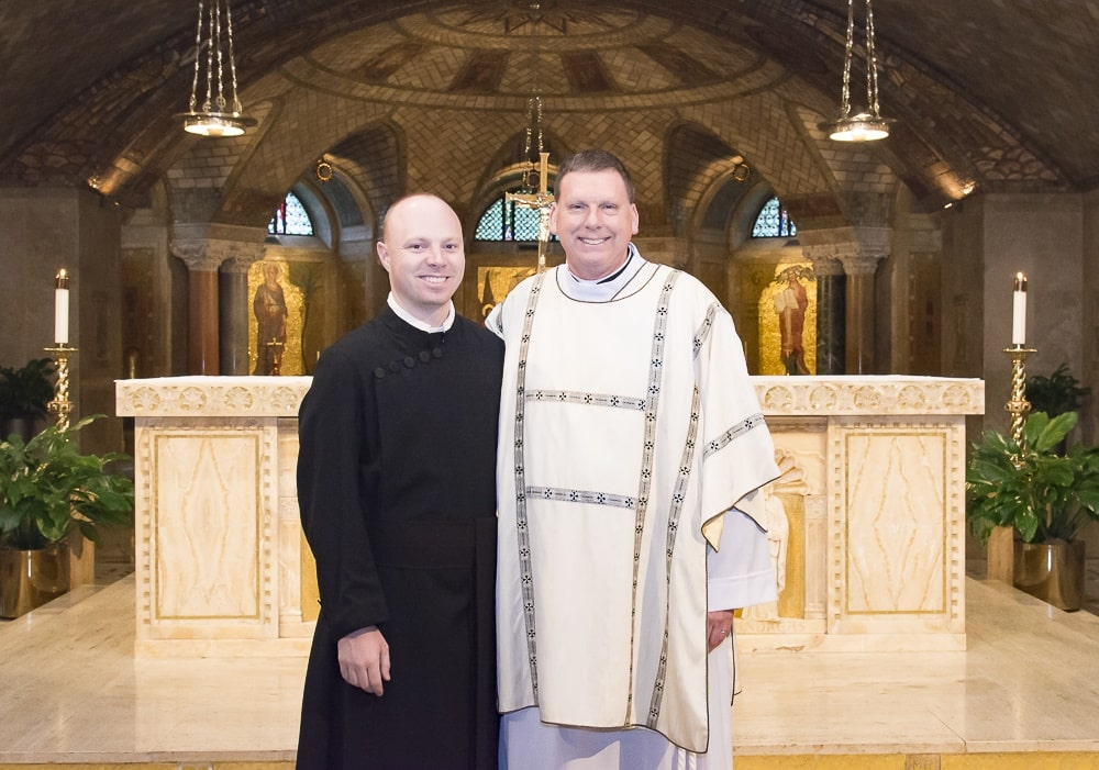 Deacon Steve with Paulist seminarian Michael Hennessy