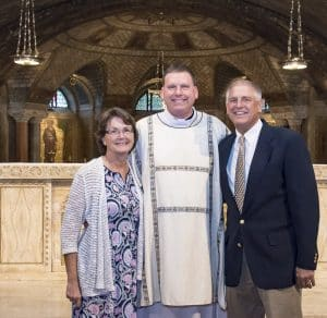 Deacon Steve with his family at his diaconate ordination, September 2016