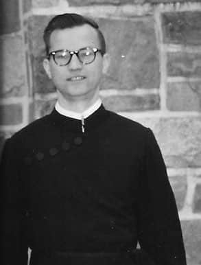 Fr. Ed Pietrucha, C.S.P. as a young priest.