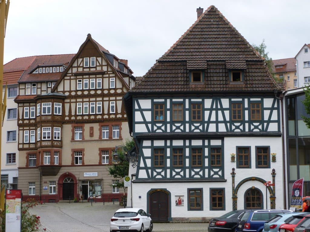 Luther's Home in Eisenach (white house at right)