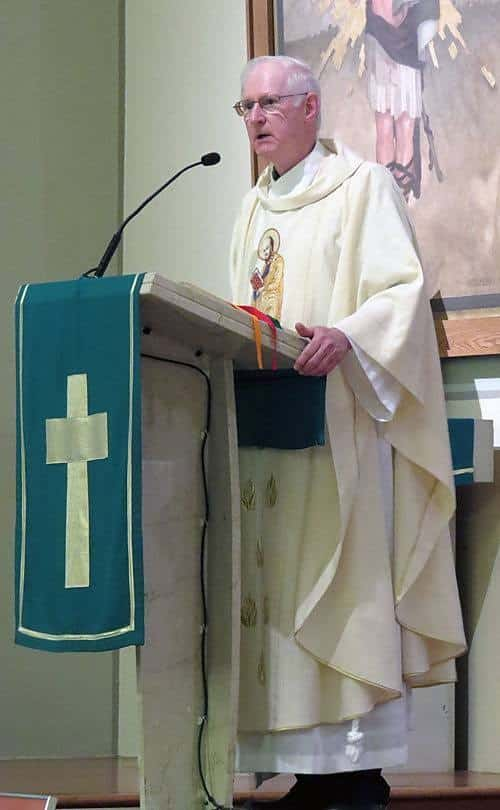 Paulist Fr. James Haley preaching at St. Peter's Church in Toronto, Canada