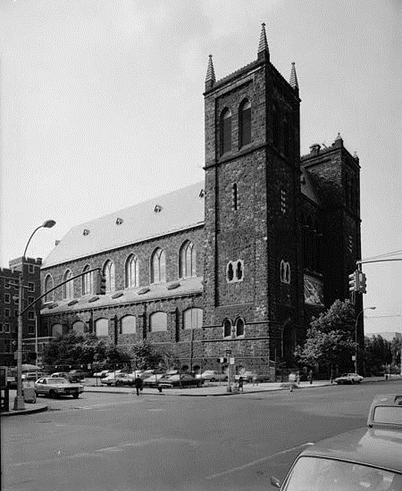 The Church of St. Paul the Apostle in New York City before the urban renewal of the Upper West Side