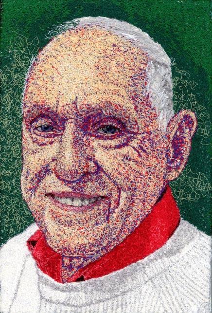 A depiction of Paulist Fr. George Fitzgerald created by Paulist Fr. Frank Sabatté.