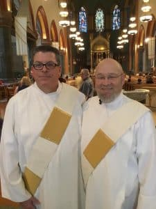 Deacon Billy Atkins(left) and Deacon Denis Dolan (right)