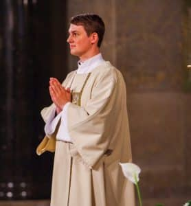 Brand new Paulist Deacon Evan Cummings at the Sept. 1, 2018 Diaconate Ordination Mass