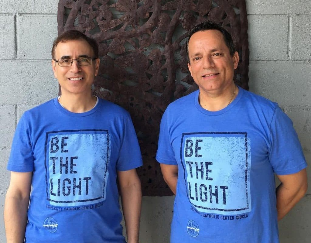 paulist_fr-_mark_villano_and_paulist_fr-_jamie_baca_in_new_ucc_t-shirts_cropped
