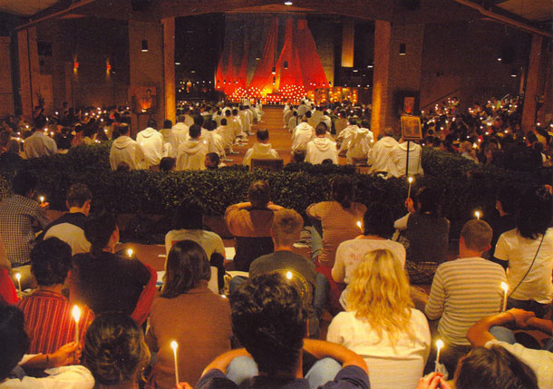 Saturday evening prayer at Taize