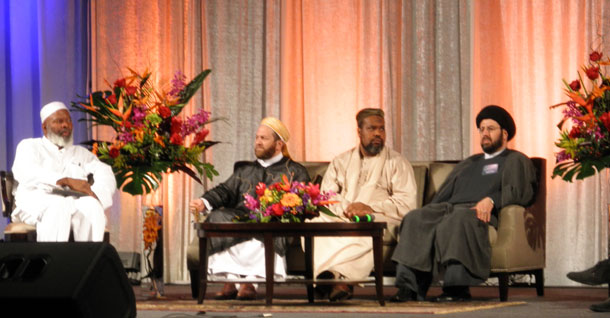 Muslim leaders in a panel discussion at Convention