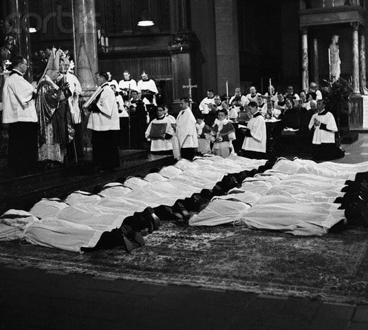Paulist Fathers ordained by Cardinal Francis Spellman on May 3, 1956