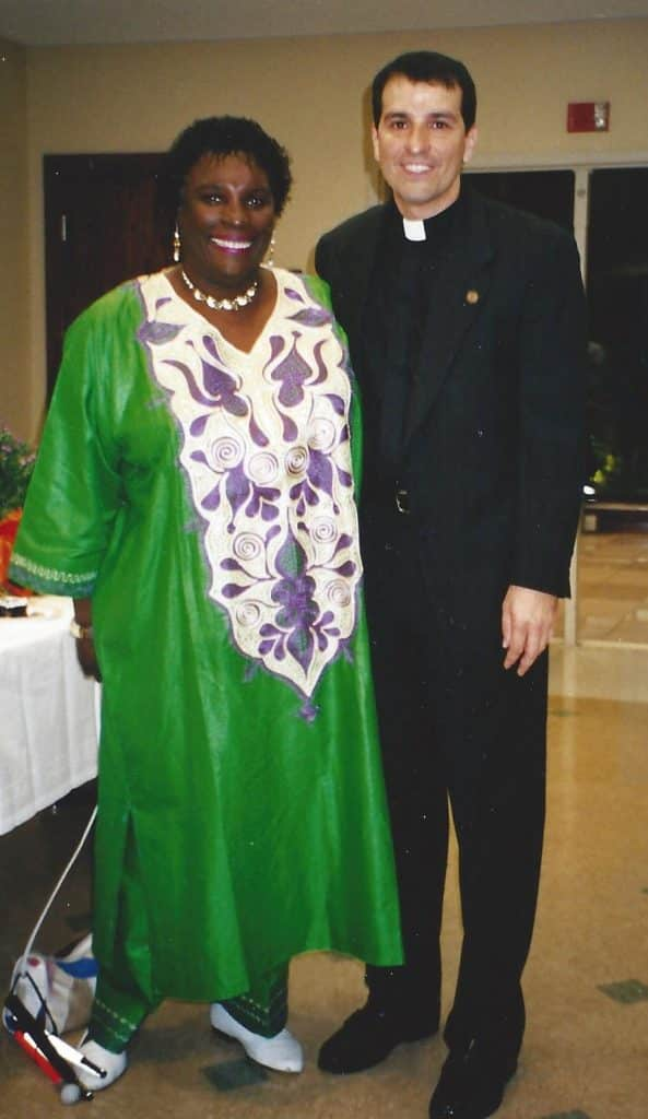 Dr. Ruth Queen Smith with Paulist Fr. Eric Andrews