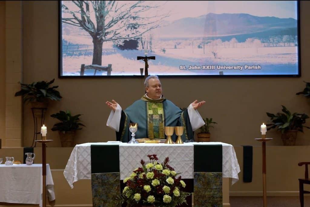 Fr. Don at John XXIII University Parish and Catholic Center in Knoxville, TN